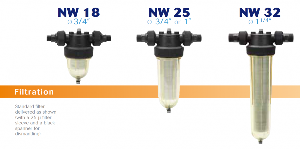 Cintropur domestic low pressure water filters