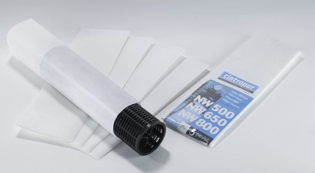 Industrial replacement and spare Cintropur filter sleeves
