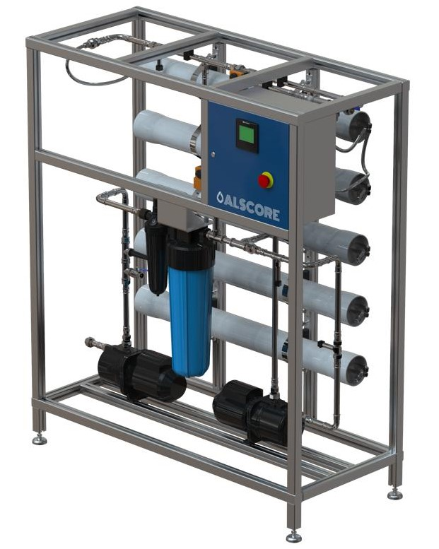 Reverse Osmosis unit with five membranes