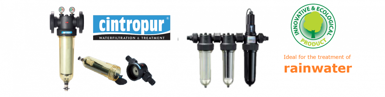 Cintropur inline low pressure water filters